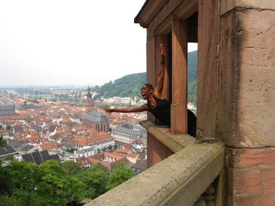 candace in castle in germany