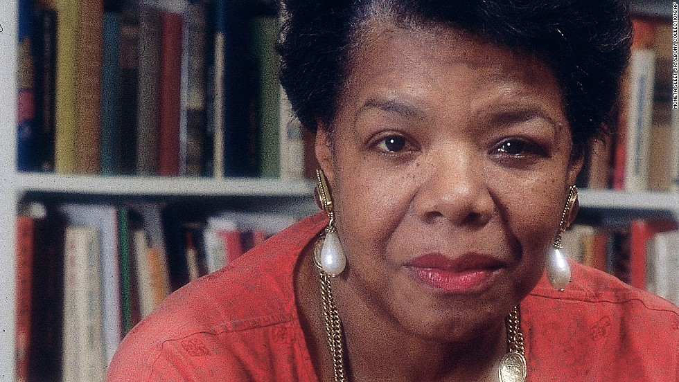Maya Angelou in home.