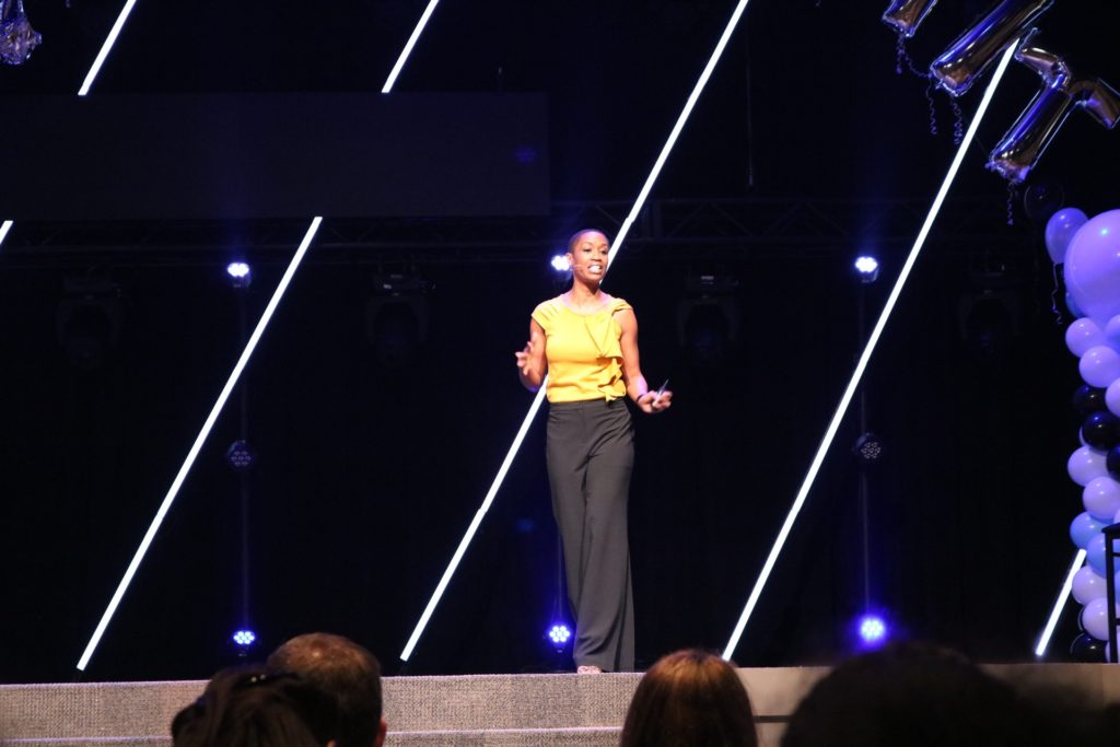 Candace Doby speaking at Guide youth conference