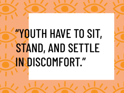 sit stand and settle in discomfort