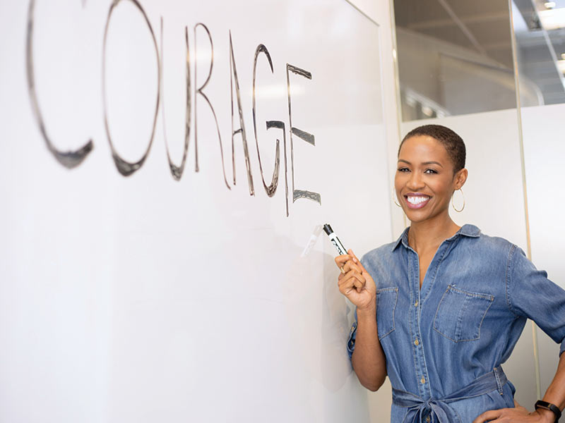Candace whiteboard courage